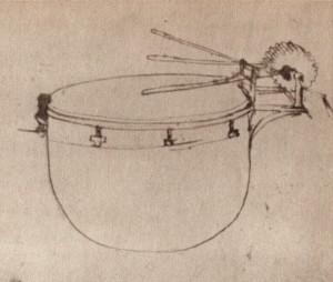 Leonardo da Vinci, Mechanische Trommel.