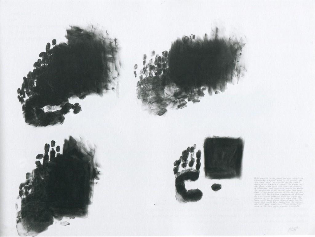 Robert Morris, Blind Time I, 1973, Graphitpulver und Leinöl auf Papier, 76,2 x 101,6 cm.