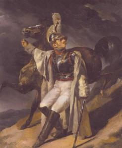 Abb. 2: Théodore Géricault, Der verletzte Kürassier zieht sich aus dem Gefecht zurück (Studie) [Le Cuirassier blessé quittant le feu], 1814, Öl auf Leinwand, 55,2 x 46 cm, Brooklyn Museum, New York.