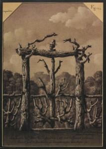 Jean-Jacques Lequeu, Porte de l'eremitage, 1777 – 1814.