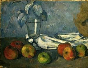Paul Cézanne, Weinglas und Äpfel, 1879 – 1882, Öl auf Leinwand, 31 x 40 cm, Basel, Kunstmuseum.