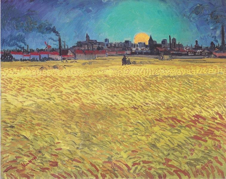 Vincent van Gogh, Sommerabend, Juni 1888, Öl auf  Leinwand, 74 x 92 cm, F 465 Winterthur, Kunstmuseum.