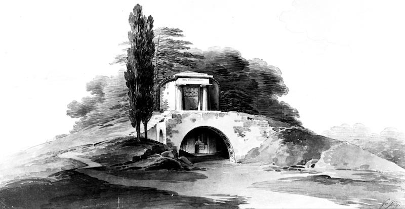 Friedrich Gilly, Tempel der Einsamkeit, 1799 – 1800.