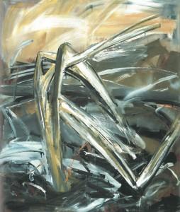Abb. 2: Albert Oehlen, Sturmschaden, 1981, Lack auf Leinwand, 110 x 150 cm.