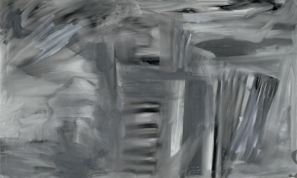 Abb. 5: Albert Oehlen, Akkordeon, 1997, Öl auf Leinwand, 143 x 239 cm, Berlin, Galerie Max Hetzler.