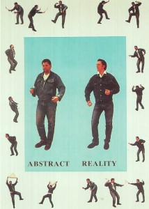 Abb. 7: Ausstellungsplakat: Albert Oehlen, Markus Oehlen: Realidad Abstracta, Universidad Internacional Menendez Pelayo, Santander 1990.