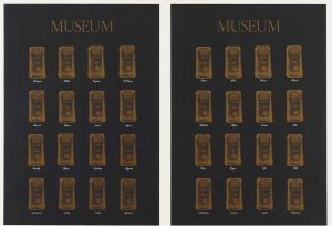 Marcel Broodthaers, Museum-Museum, 1972, two screenprints, each 83 x 59.1 cm; publisher: Edition Staeck, Heidelberg; printer: Gerhard Steidl, Göttingen; edition of 100, The Museum of Modern Art, New York, The Associates Fund, 1991.