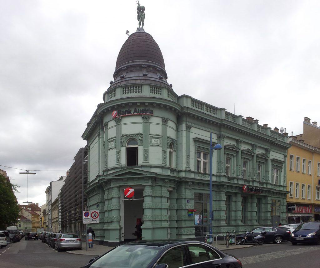 Abb. 1: Gesamtbild der Bankfiliale, Mai 2014.