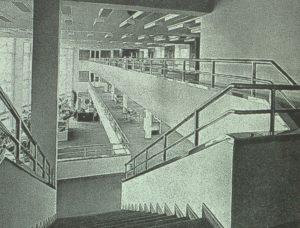 Abb. 8: Zweites Zwischengeschoss, Blick Richtung Kassenhalle.