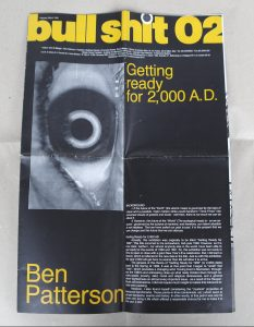 "Fig. 1: Benjamin Patterson, Bull Shit No. 2, cover page, featuring ""Background"" by Benjamin Patterson, February/March, 1992."