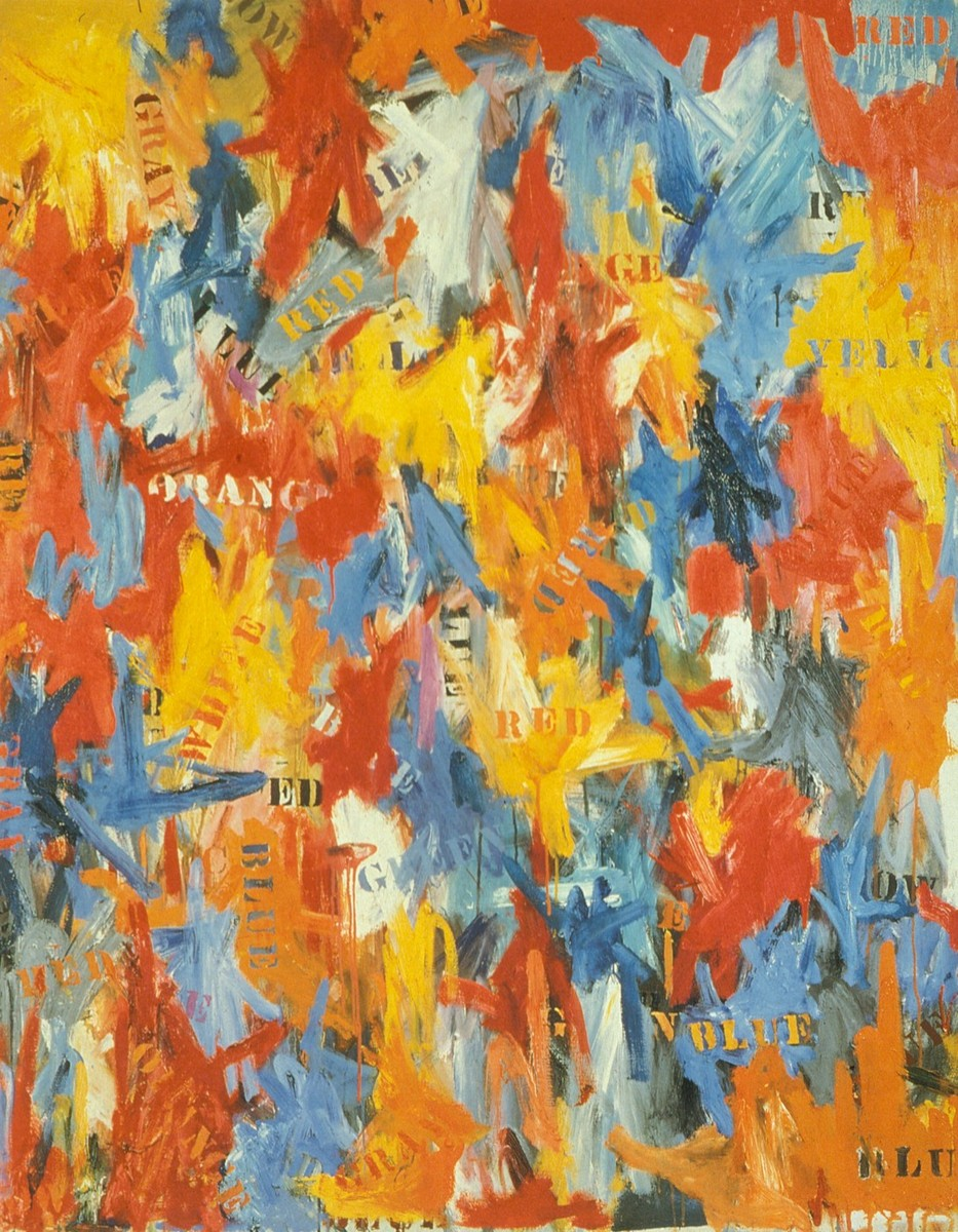 Fig. 1: Jasper Johns, False Start, Oil on Canvas, 170,8 cm x 137,2 cm, Private Collection, David Geffen, Los Angeles.