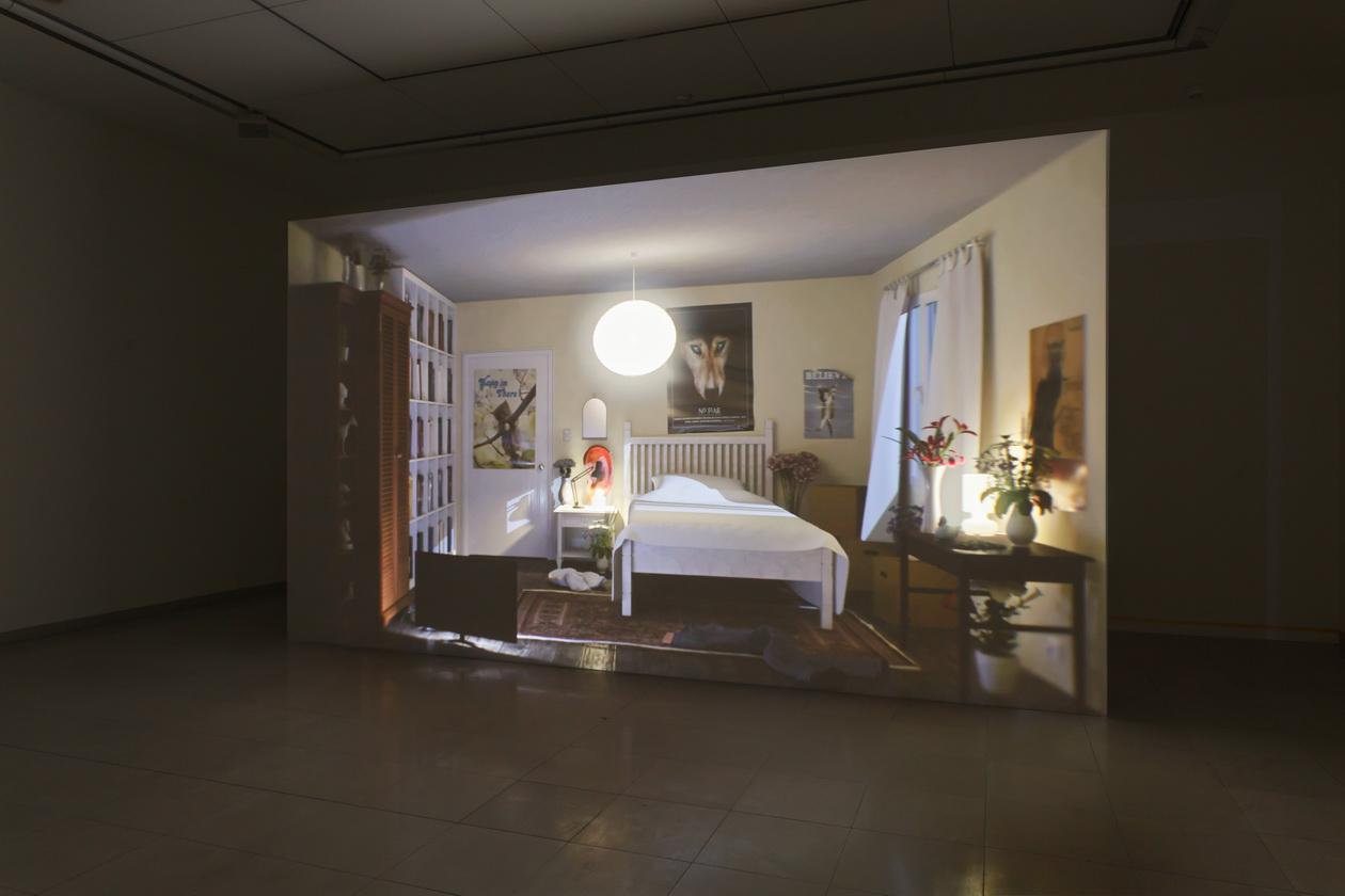 Abb. 1: Ed Atkins, Ausstellungsansicht MMK Museum für Moderne Kunst Frankfurt am Main 2017; Filmstill, Hisser 2015/2017.