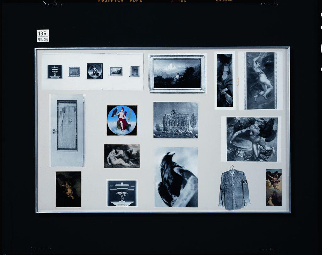 Fig. 1. Marcel Broodthaers, Section Publicité du Musée d'Art Moderne, Département des Aigles, 1972, detail. Installation with multiple parts, Kunstsammlung Nordrhein-Westfalen, Düsseldorf.